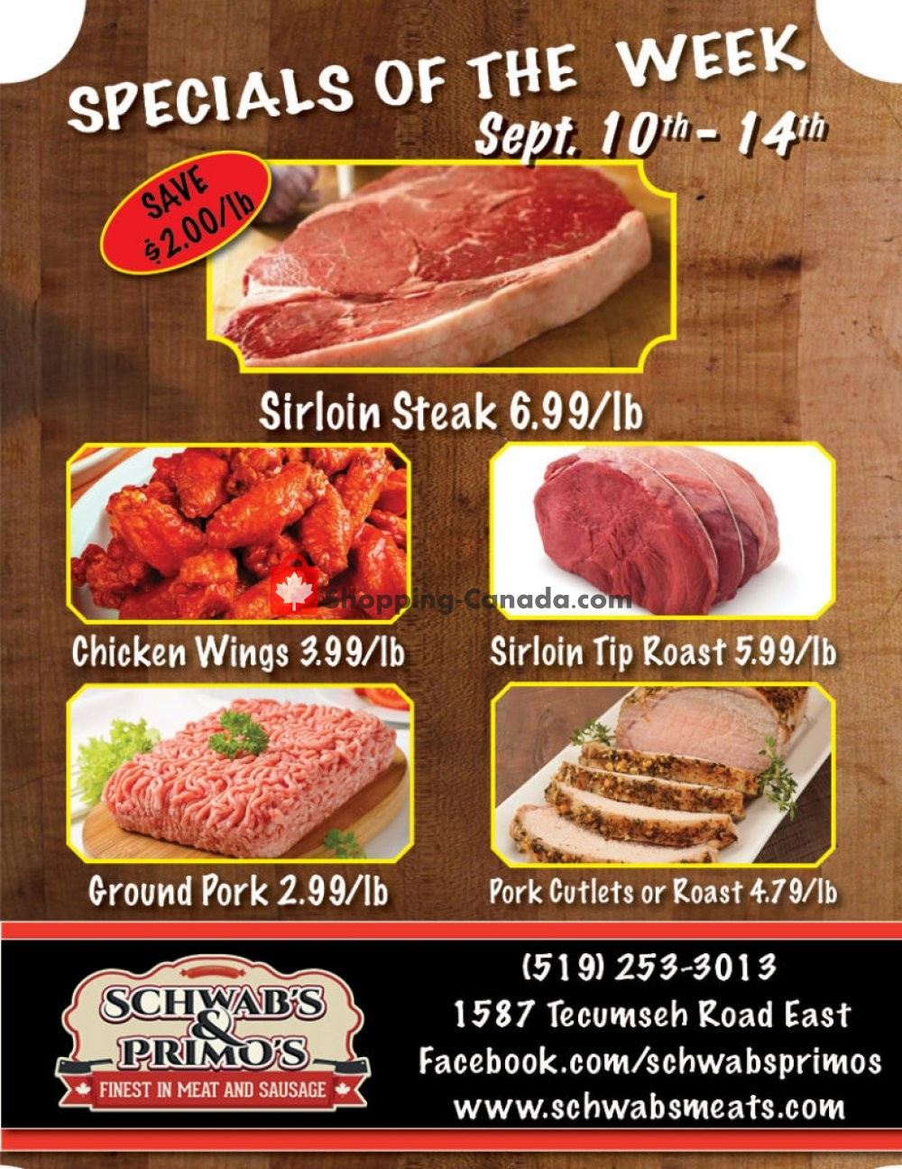 Flyer Schwab's & Primo's Canada - from Tuesday September 10, 2019 to Saturday September 14, 2019
