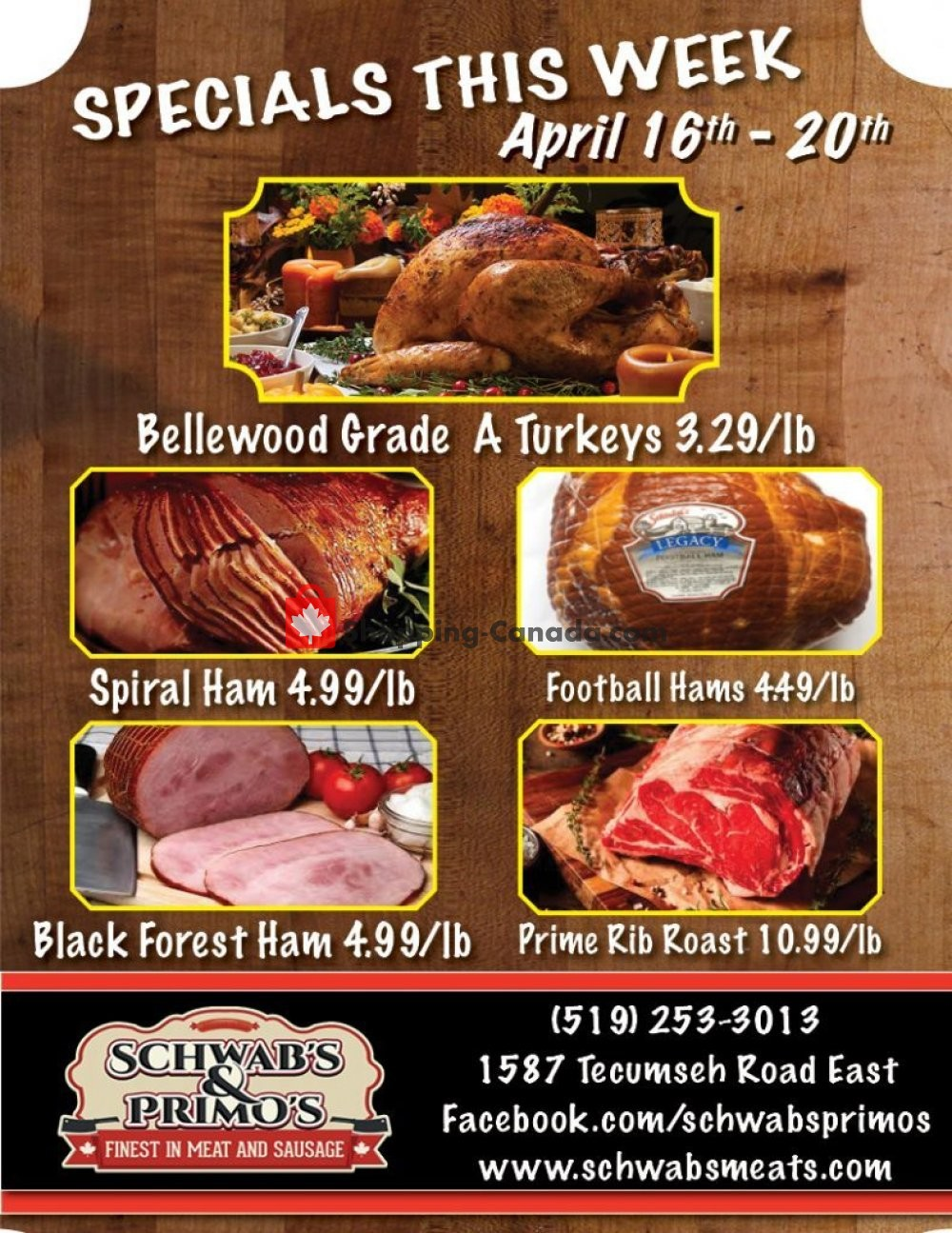 Flyer Schwab's & Primo's Canada - from Tuesday April 16, 2019 to Saturday April 20, 2019