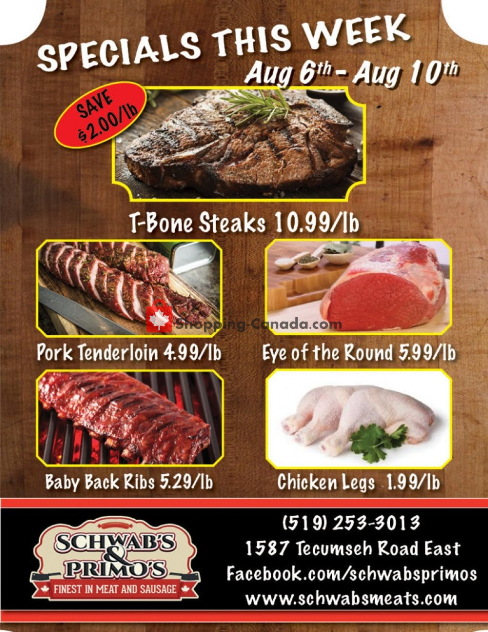 Flyer Schwab's & Primo's Canada - from Tuesday August 6, 2019 to Saturday August 10, 2019