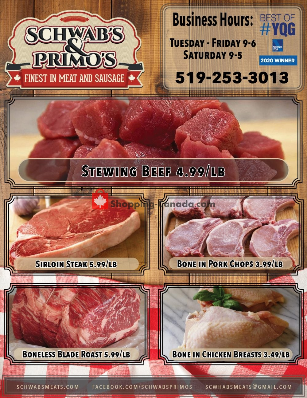 Flyer Schwab's & Primo's Canada - from Tuesday January 19, 2021 to Saturday January 23, 2021
