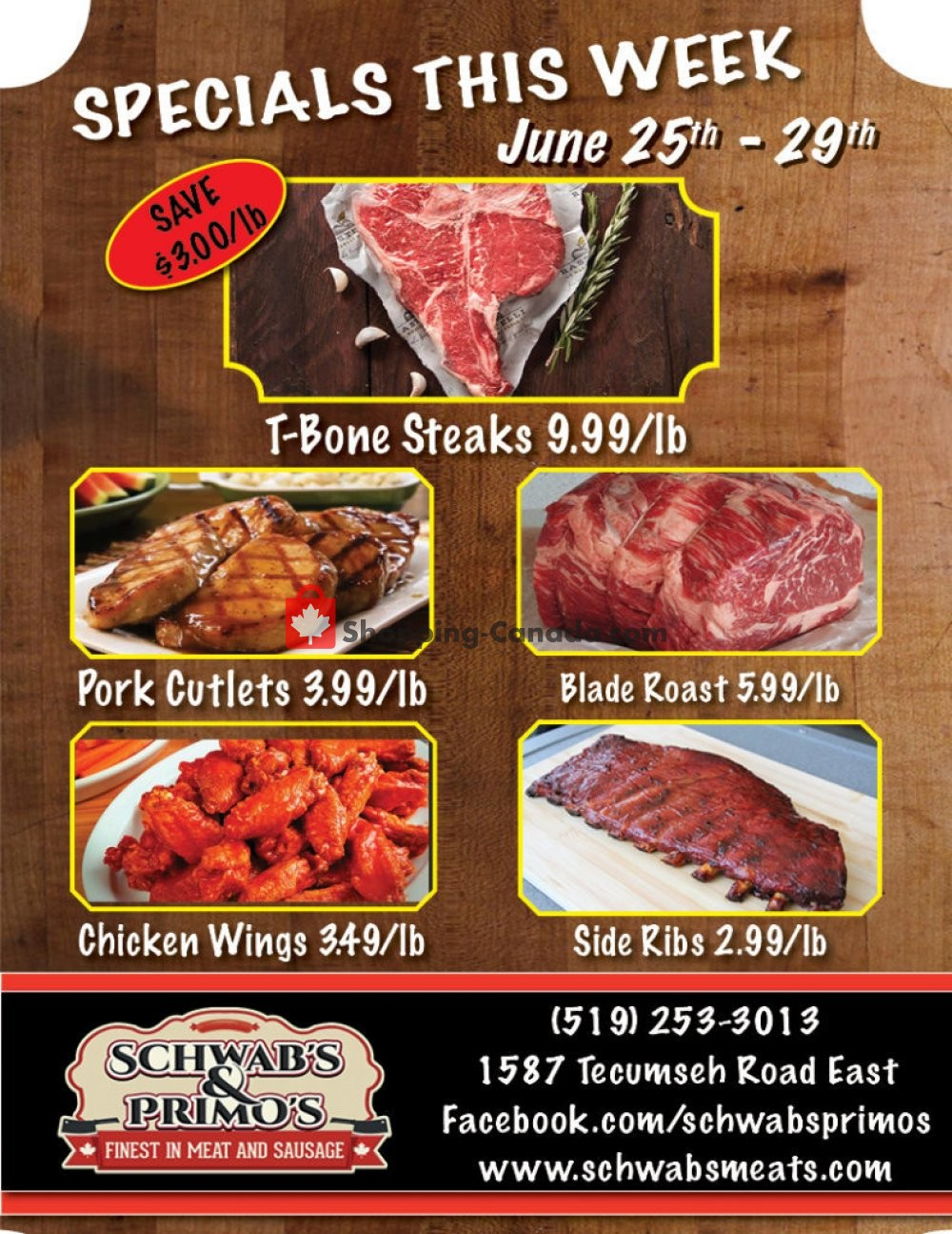 Flyer Schwab's & Primo's Canada - from Tuesday June 25, 2019 to Saturday June 29, 2019