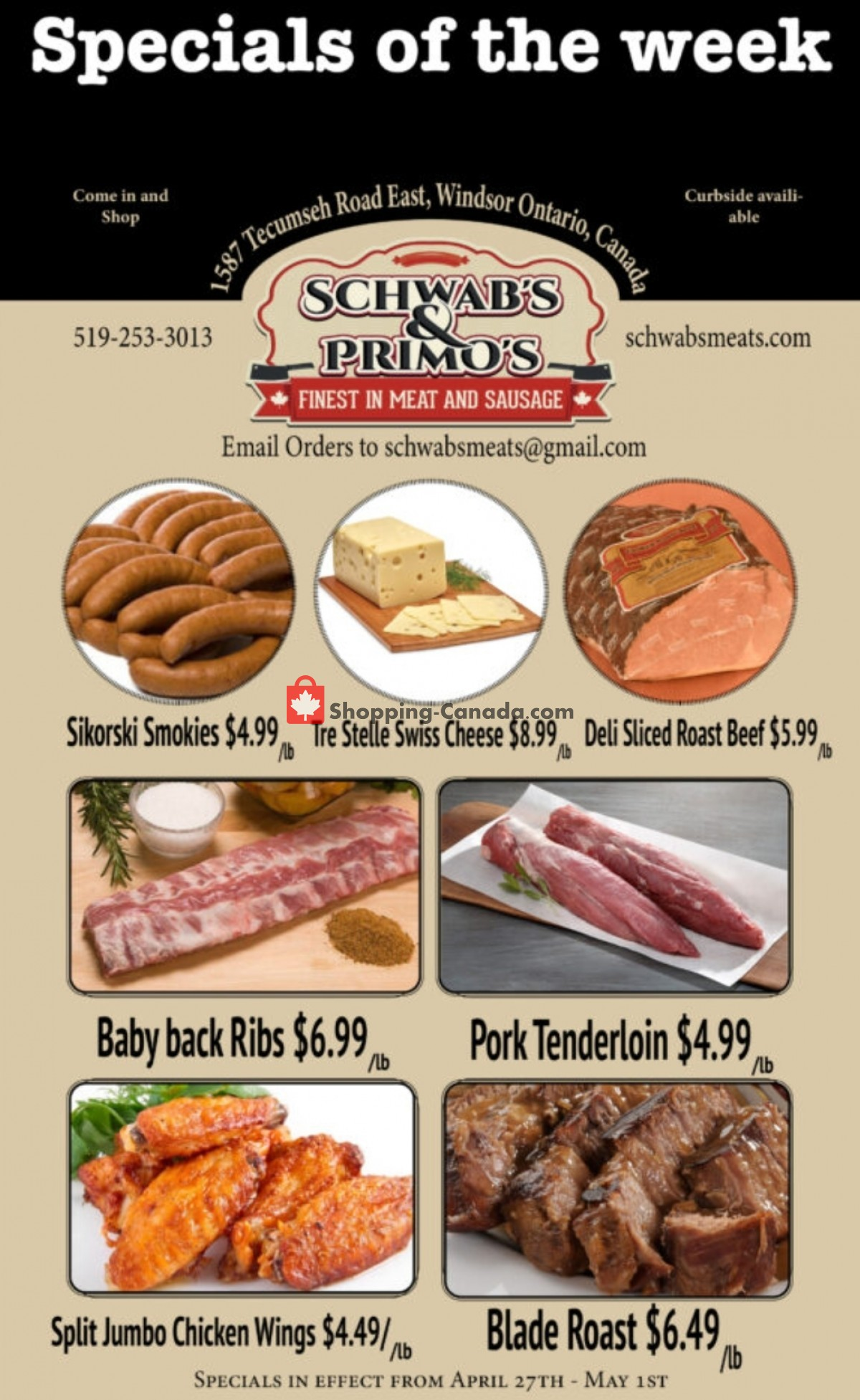 Flyer Schwab's & Primo's Canada - from Tuesday April 27, 2021 to Saturday May 1, 2021