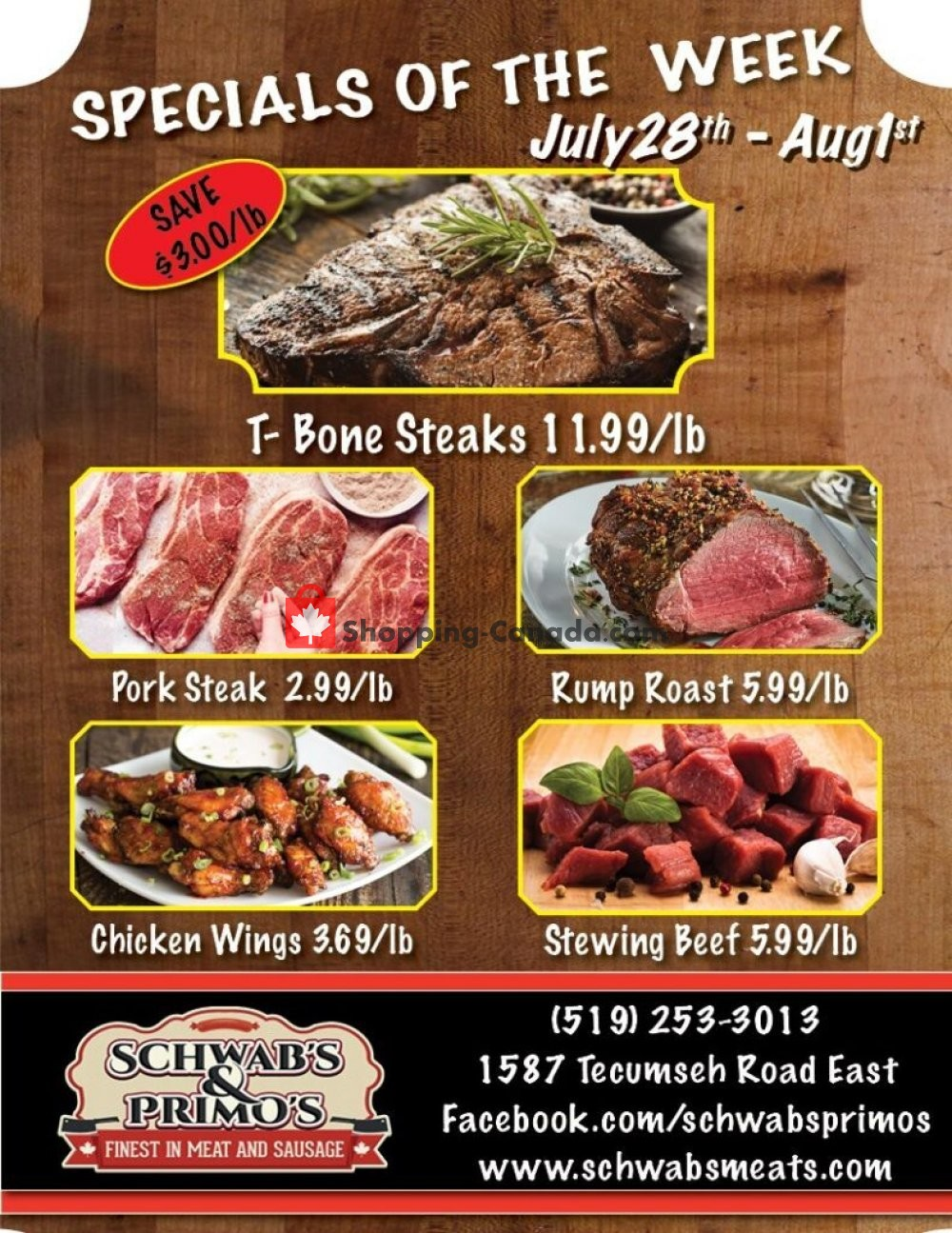 Flyer Schwab's & Primo's Canada - from Tuesday July 28, 2020 to Saturday August 1, 2020
