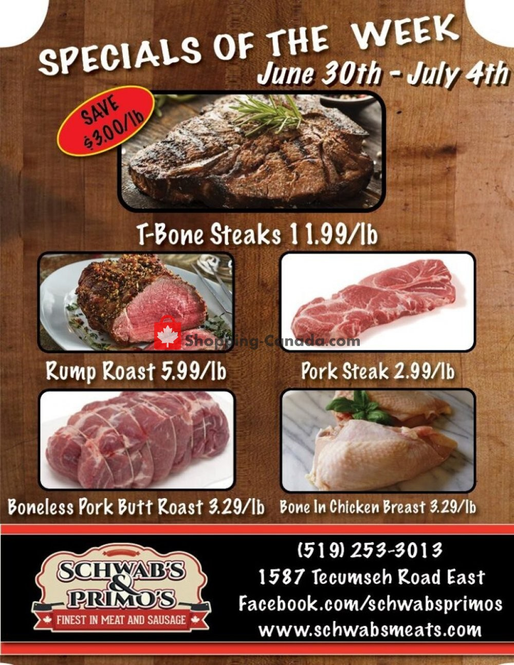 Flyer Schwab's & Primo's Canada - from Tuesday June 30, 2020 to Saturday July 4, 2020