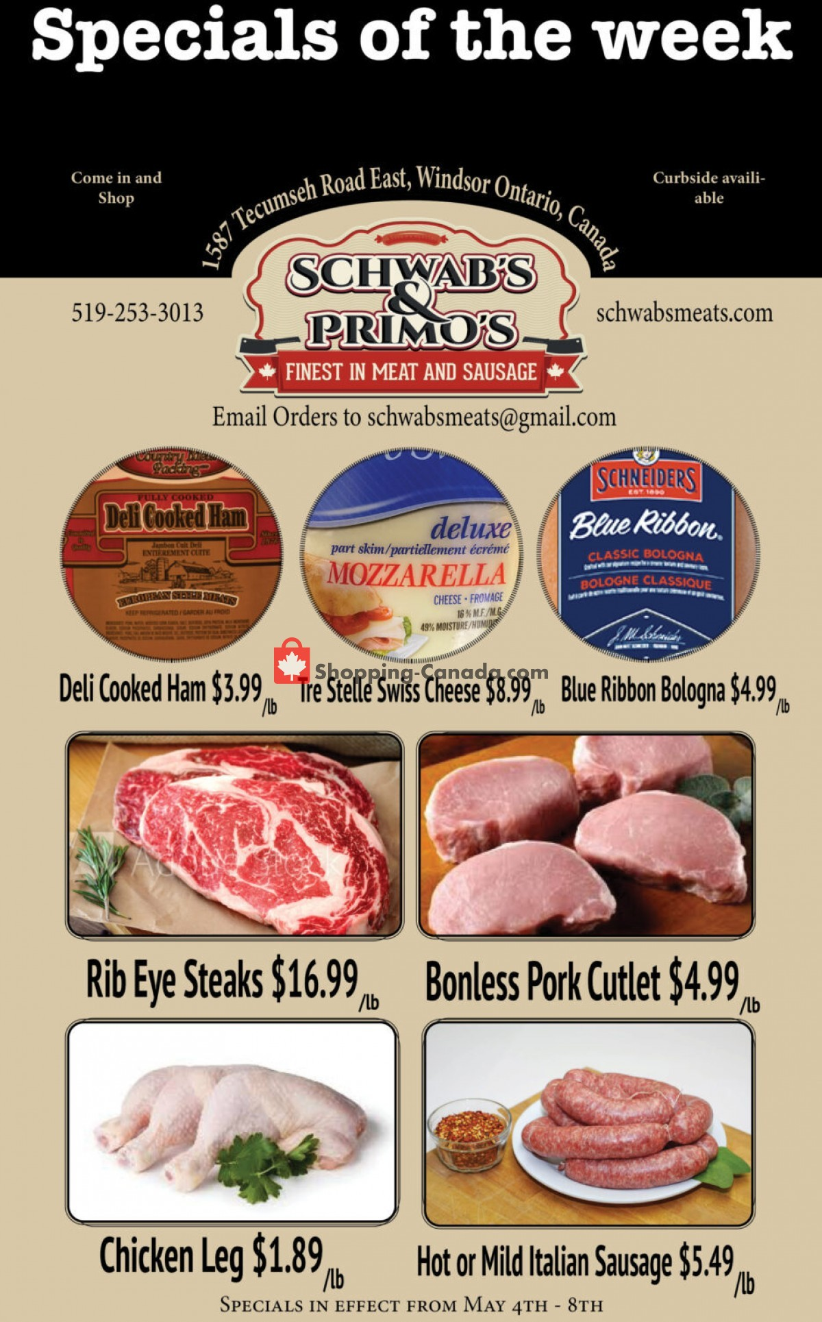 Flyer Schwab's & Primo's Canada - from Tuesday May 4, 2021 to Saturday May 8, 2021