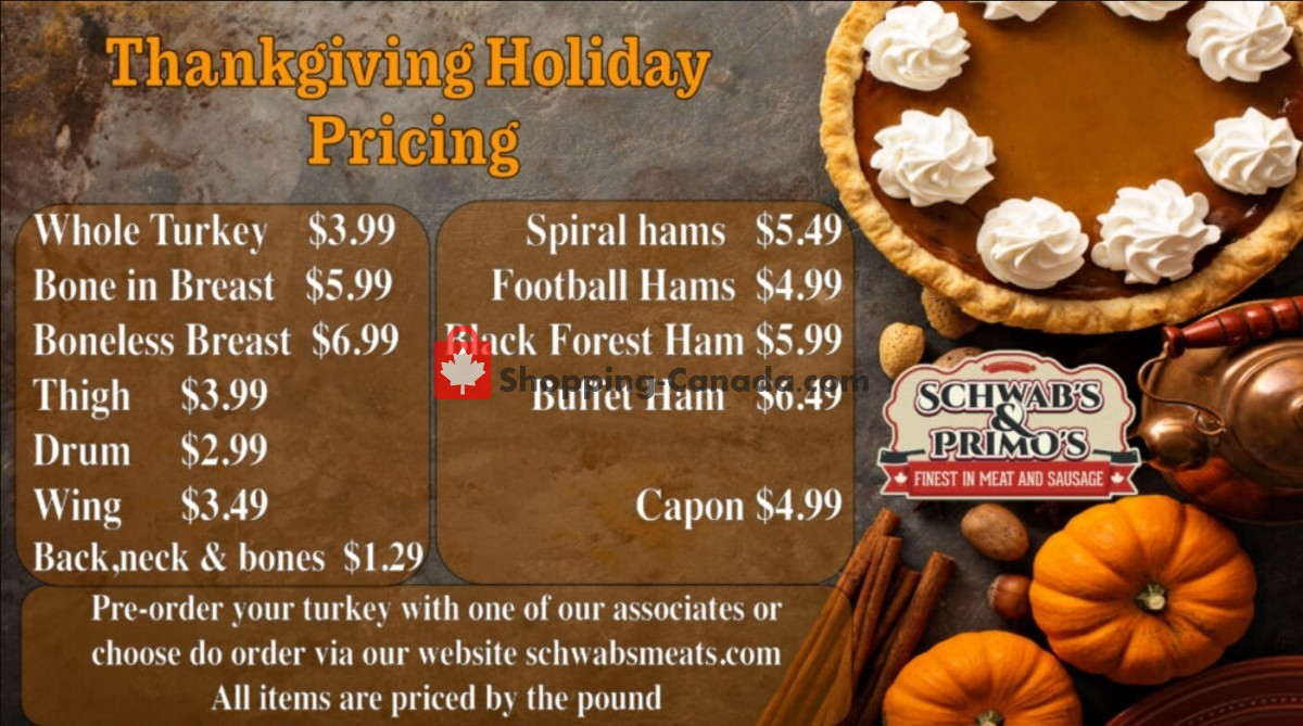 Flyer Schwab's & Primo's Canada - from Tuesday October 5, 2021 to Saturday October 9, 2021