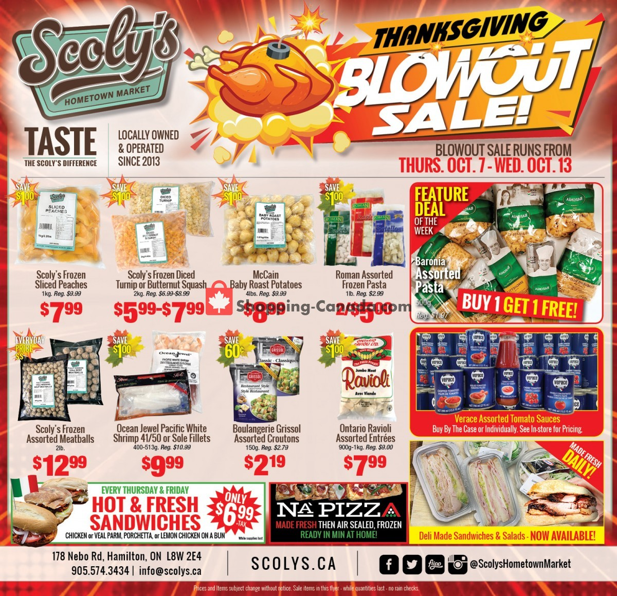 Flyer Scoly's Hometown Market Canada - from Thursday October 7, 2021 to Wednesday October 13, 2021