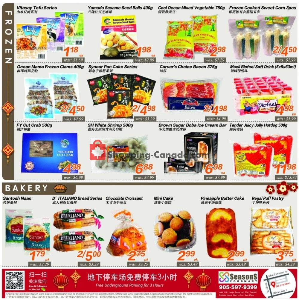 Flyer Seasons Food Mart Canada - from Friday January 10, 2020 to Thursday January 16, 2020
