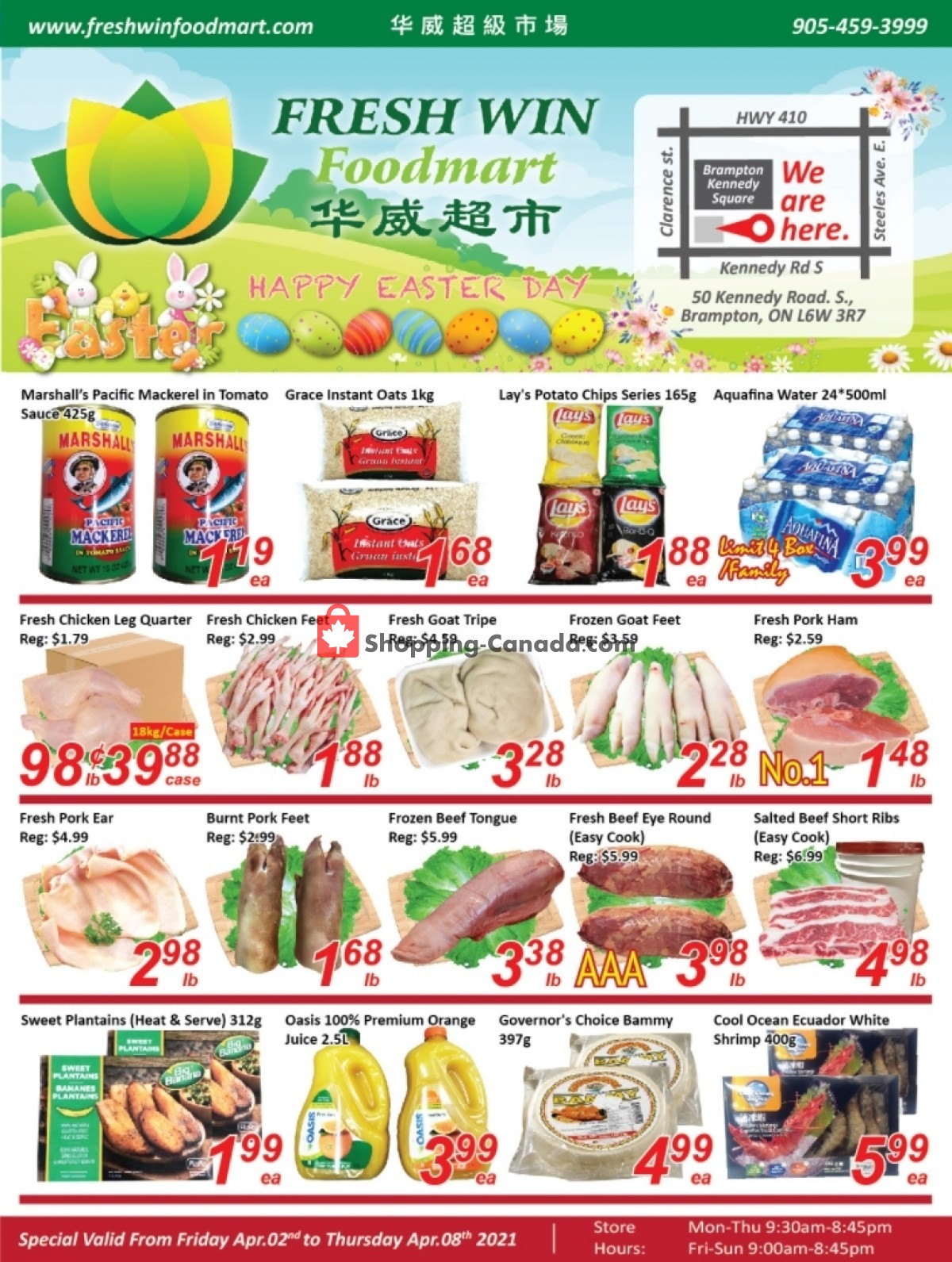 Flyer Seasons Food Mart Canada - from Friday April 2, 2021 to Thursday April 8, 2021