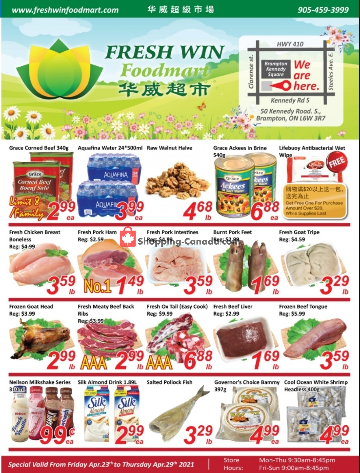 Flyer Seasons Food Mart Canada - from Friday April 23, 2021 to Thursday April 29, 2021