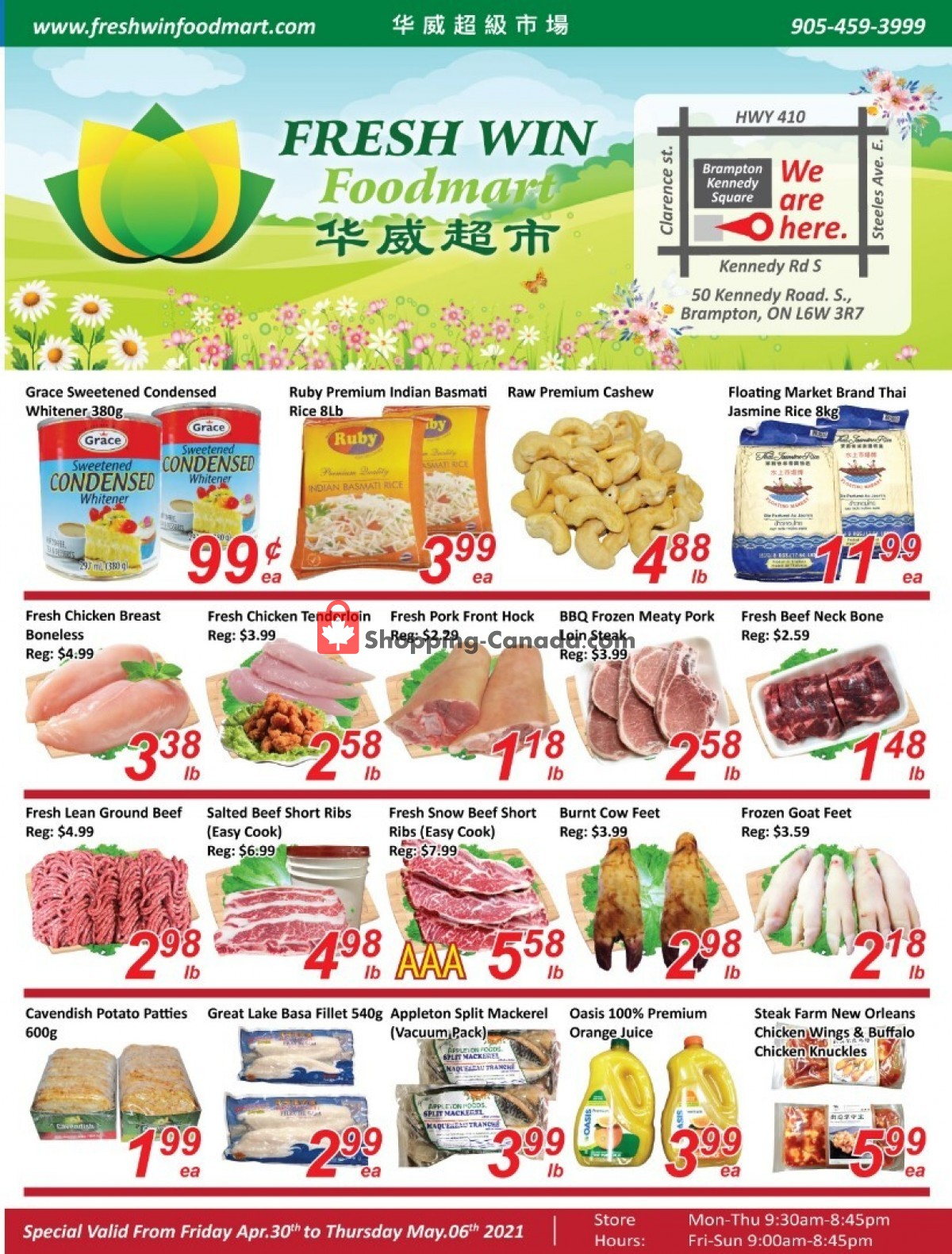 Flyer Seasons Food Mart Canada - from Friday April 30, 2021 to Thursday May 6, 2021