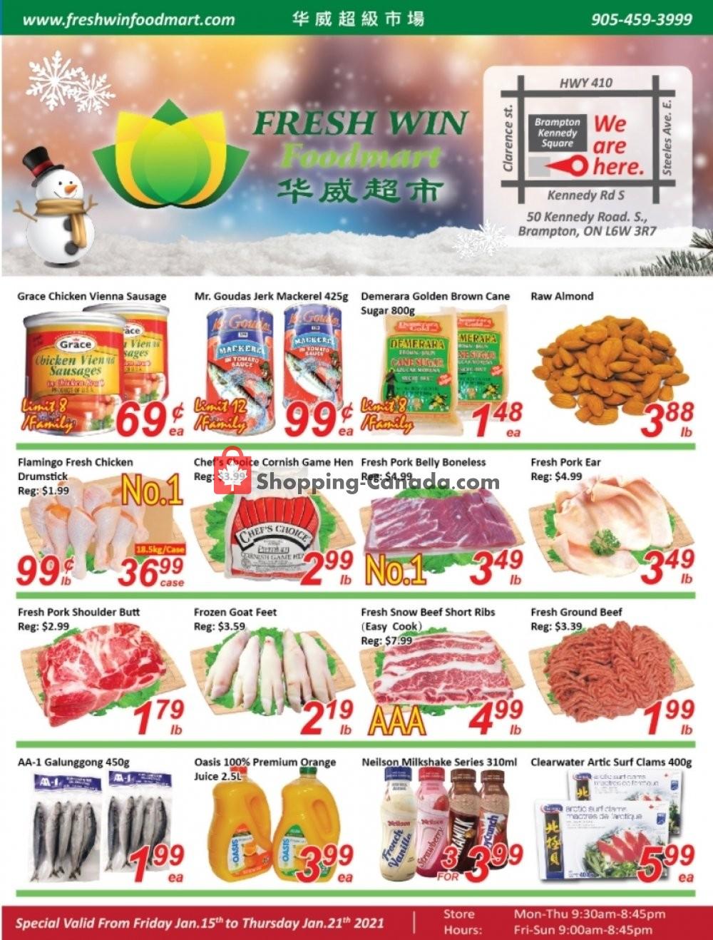 Flyer Seasons Food Mart Canada - from Friday January 15, 2021 to Thursday January 21, 2021