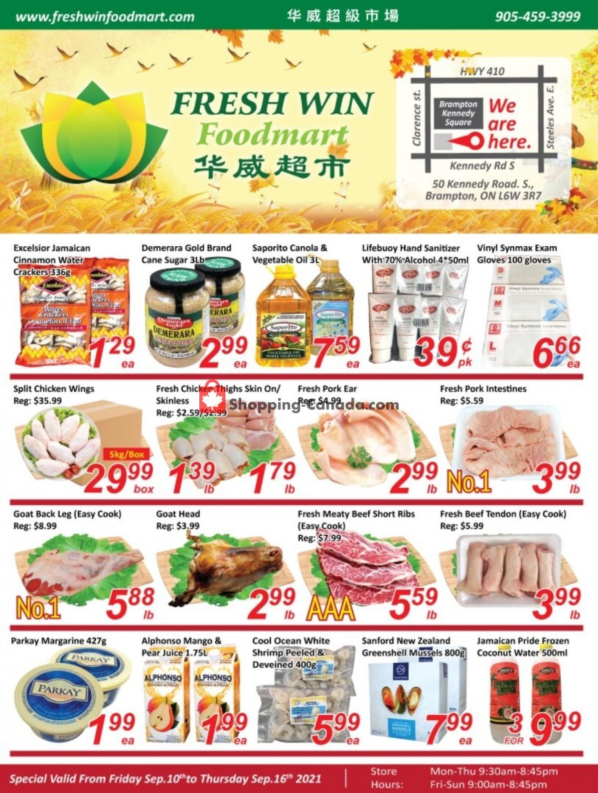 Flyer Seasons Food Mart Canada - from Friday September 10, 2021 to Thursday September 16, 2021