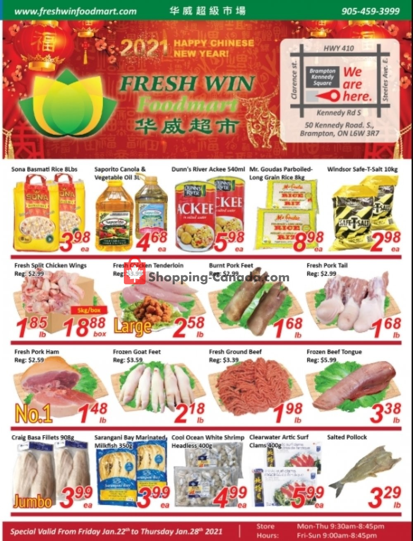 Flyer Seasons Food Mart Canada - from Friday January 22, 2021 to Thursday January 28, 2021