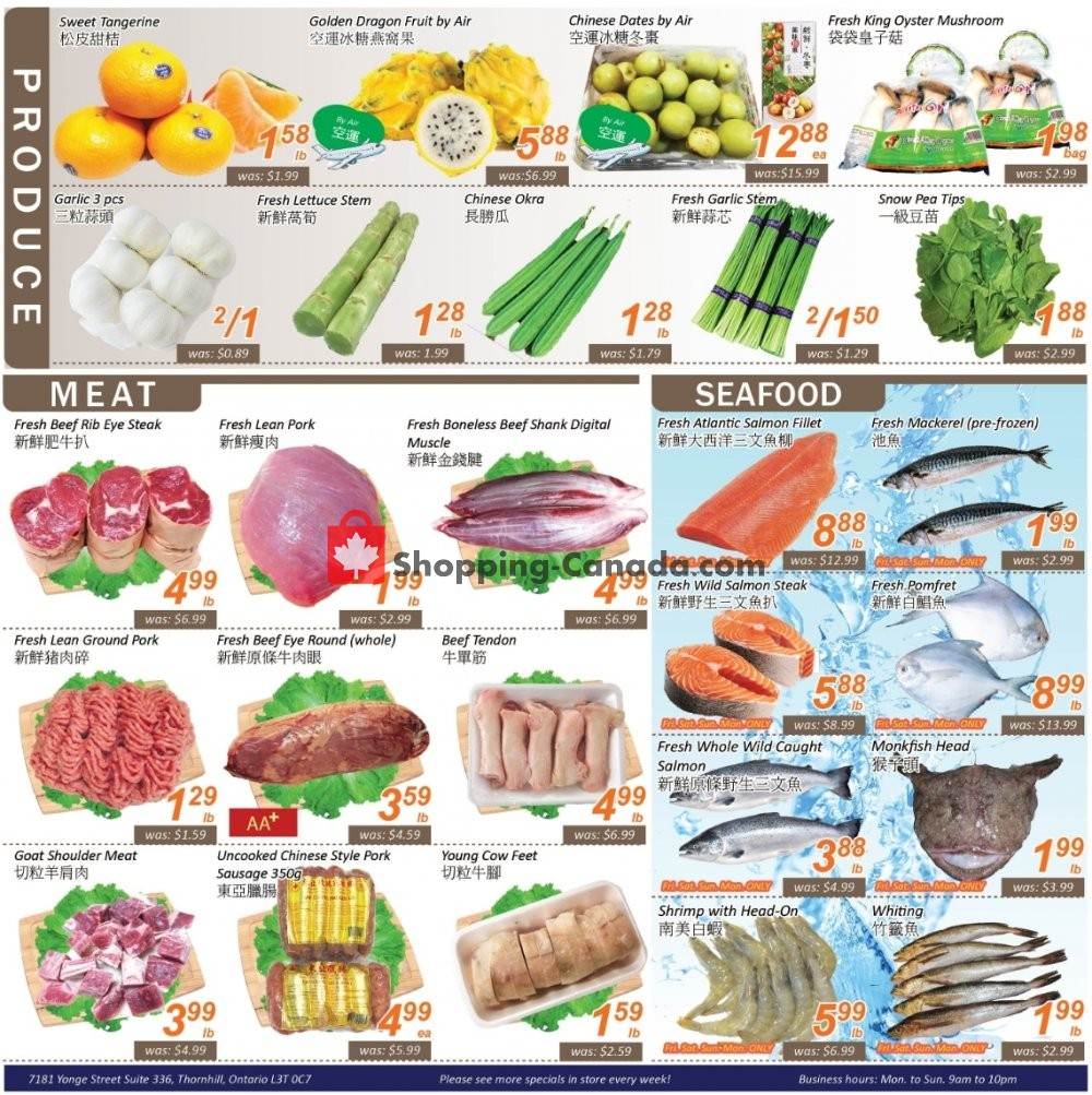 Flyer Seasons Food Mart Canada - from Friday July 19, 2019 to Thursday July 25, 2019