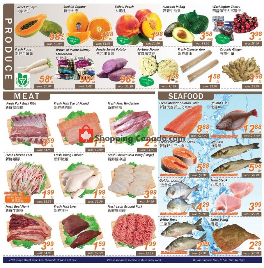Flyer Seasons Food Mart Canada - from Friday July 12, 2019 to Thursday July 18, 2019