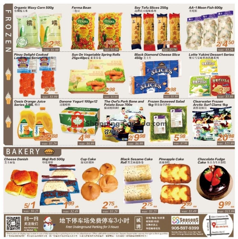 Flyer Seasons Food Mart Canada - from Friday November 8, 2019 to Thursday November 14, 2019