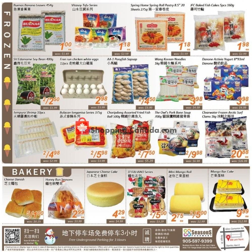 Flyer Seasons Food Mart Canada - from Friday October 4, 2019 to Thursday October 10, 2019
