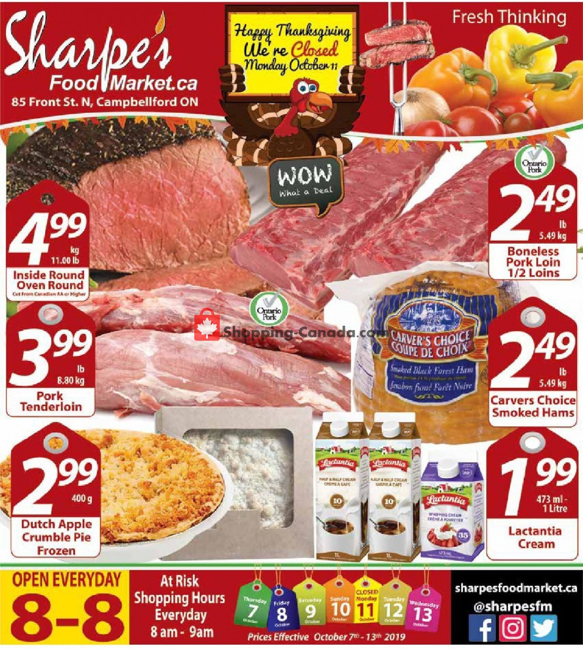 Flyer Sharpe's Food Market Canada - from Thursday October 7, 2021 to Wednesday October 13, 2021