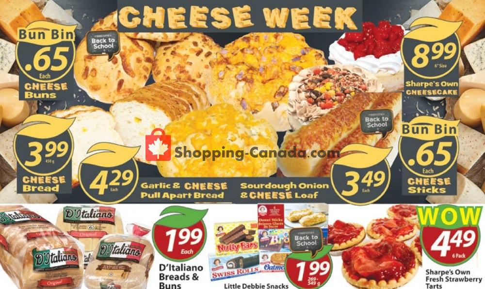 Flyer Sharpe's Food Market Canada - from Thursday January 9, 2020 to Wednesday January 15, 2020