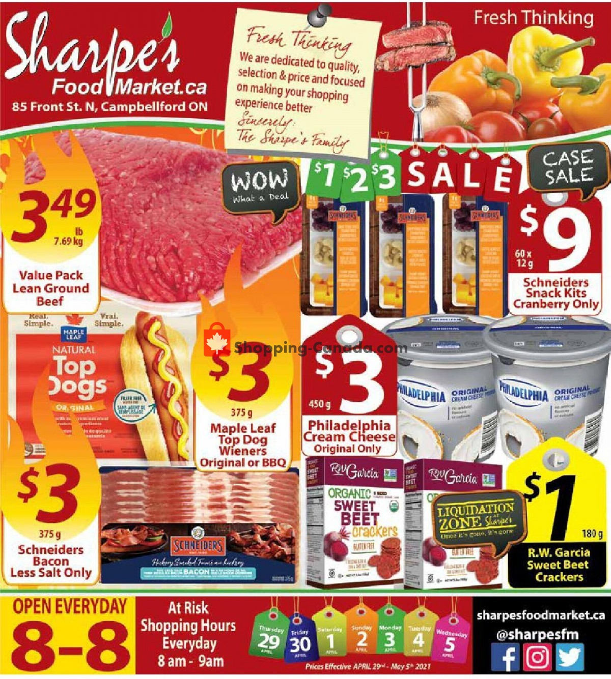 Flyer Sharpe's Food Market Canada - from Thursday April 29, 2021 to Wednesday May 5, 2021