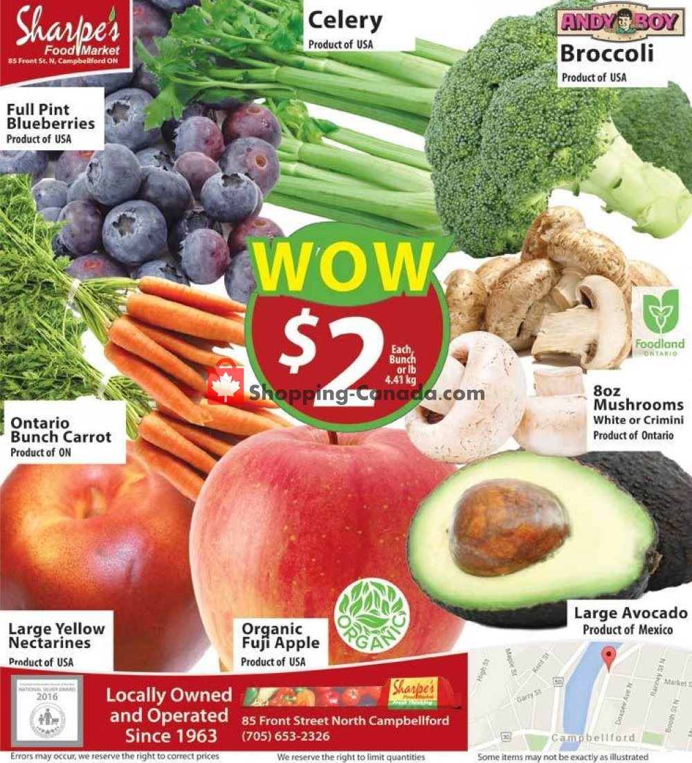 Flyer Sharpe's Food Market Canada - from Thursday August 8, 2019 to Wednesday August 14, 2019