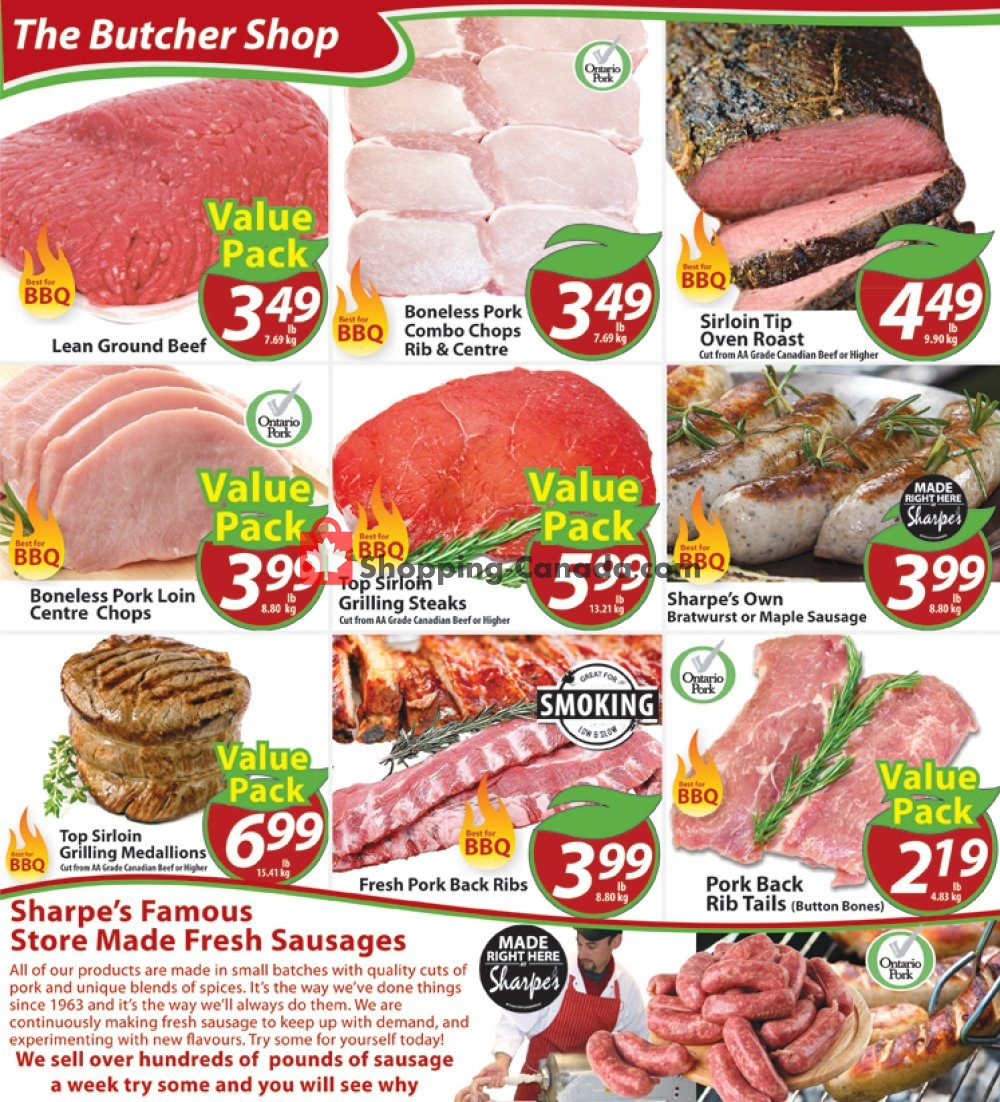 Flyer Sharpe's Food Market Canada - from Thursday July 11, 2019 to Wednesday July 17, 2019