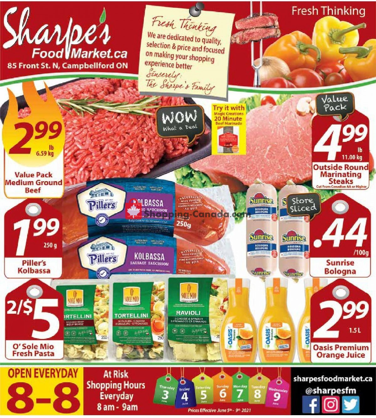 Flyer Sharpe's Food Market Canada - from Thursday June 3, 2021 to Wednesday June 9, 2021