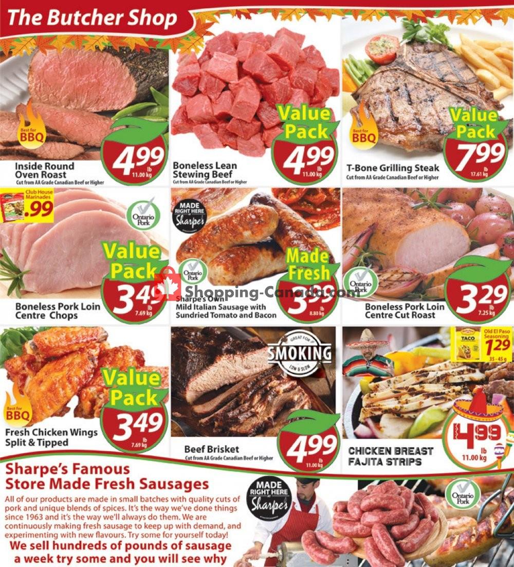 Flyer Sharpe's Food Market Canada - from Thursday November 7, 2019 to Wednesday November 13, 2019
