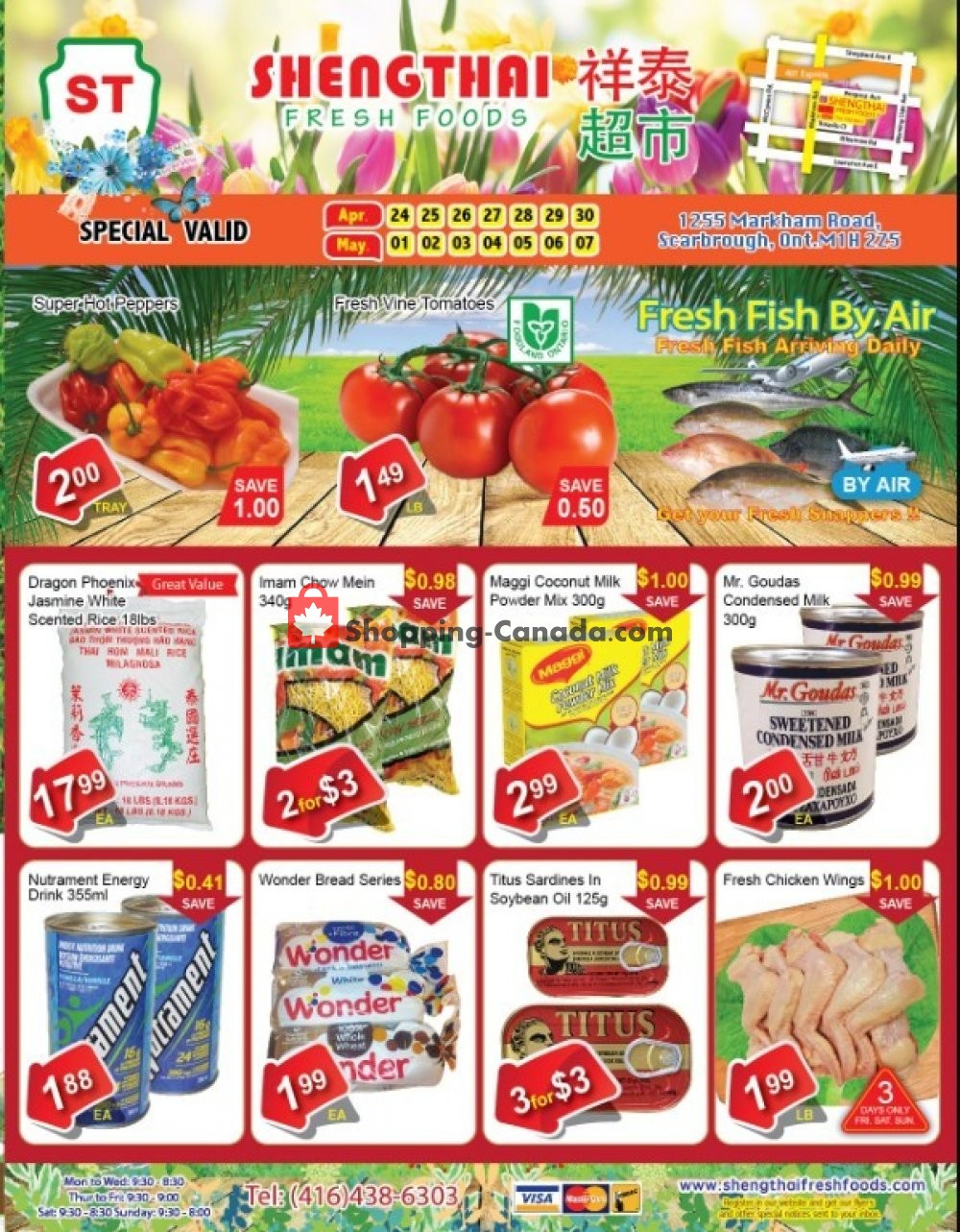 Flyer Shengthai Fresh Foods Canada - from Friday April 24, 2020 to Thursday May 7, 2020