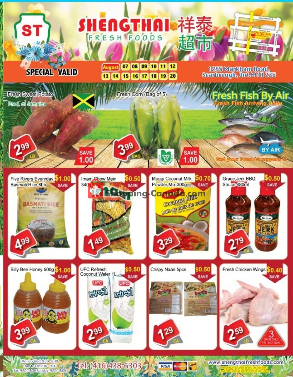 Flyer Shengthai Fresh Foods Canada - from Friday August 7, 2020 to Thursday August 20, 2020