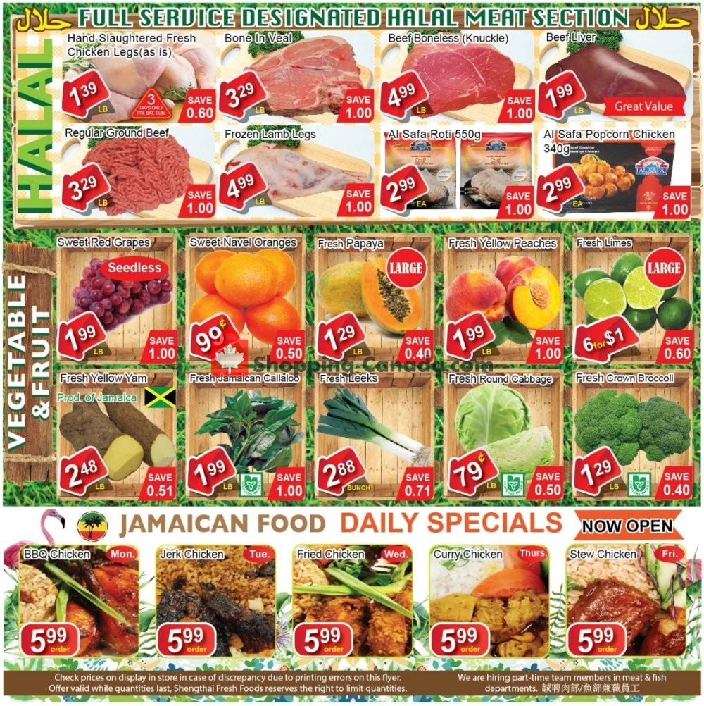 Flyer Shengthai Fresh Foods Canada - from Friday July 19, 2019 to Thursday August 1, 2019