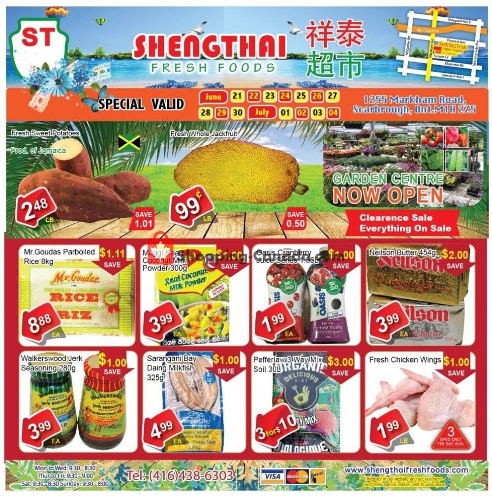 Flyer Shengthai Fresh Foods Canada - from Friday June 21, 2019 to Thursday July 4, 2019