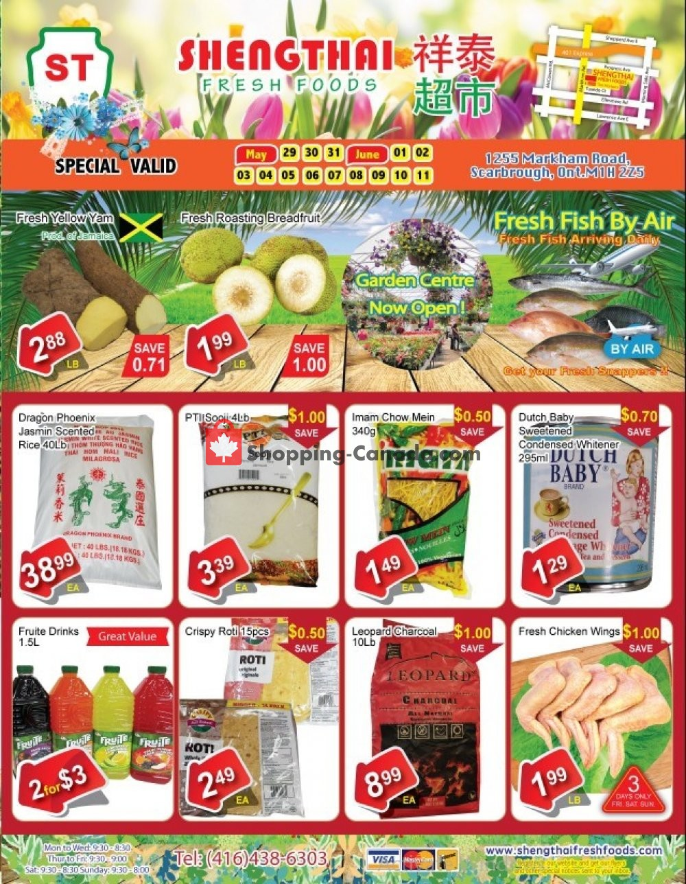 Flyer Shengthai Fresh Foods Canada - from Friday May 29, 2020 to Thursday June 11, 2020