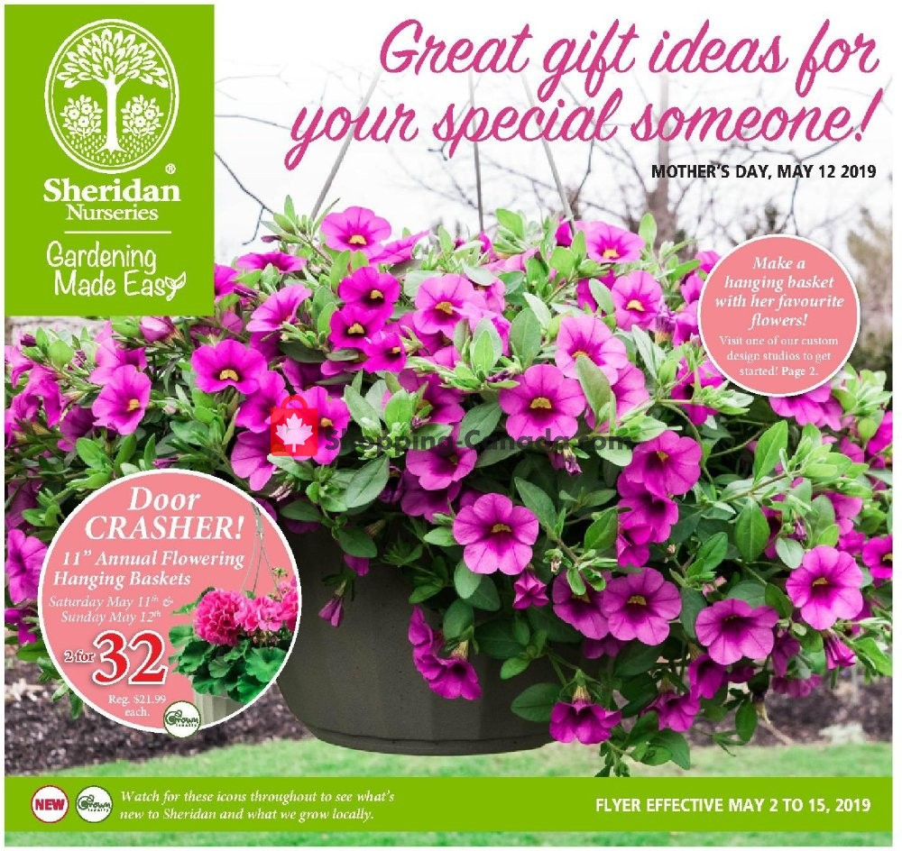 Flyer Sheridan Nurseries Canada - from Thursday May 2, 2019 to Wednesday May 15, 2019