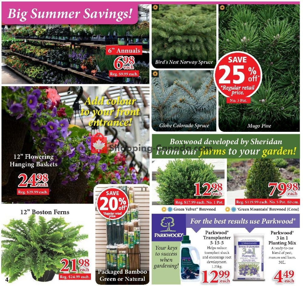 Flyer Sheridan Nurseries Canada - from Thursday July 11, 2019 to Wednesday July 31, 2019