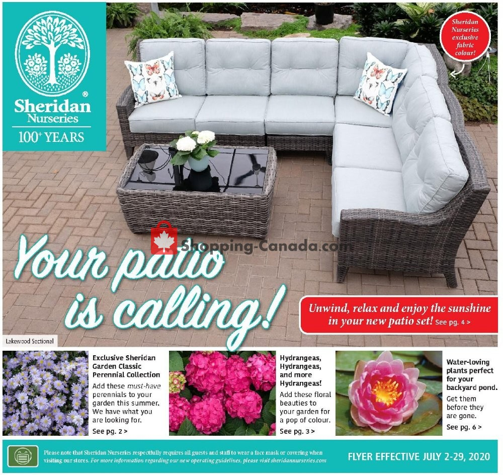Flyer Sheridan Nurseries Canada - from Thursday July 2, 2020 to Wednesday July 29, 2020