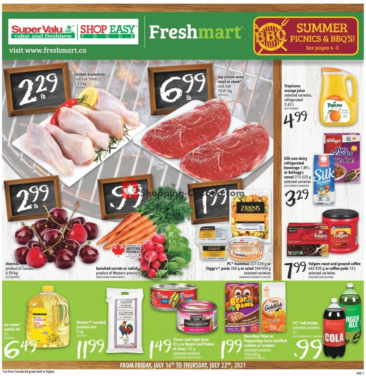 Flyer Shop Easy Foods & SuperValu Canada - from Friday July 16, 2021 to Thursday July 22, 2021