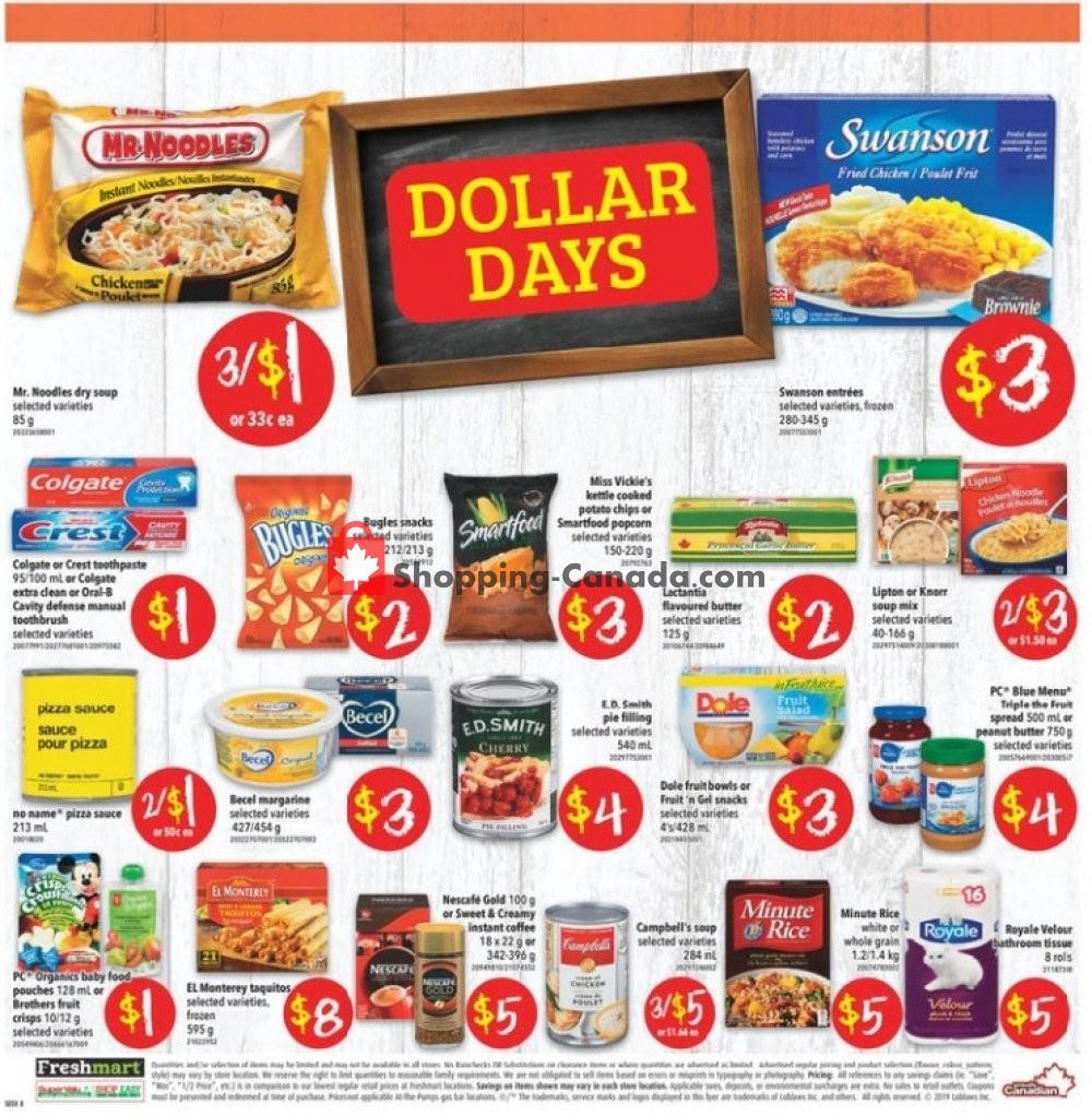 Flyer Shop Easy Foods & SuperValu Canada - from Friday September 6, 2019 to Thursday September 12, 2019