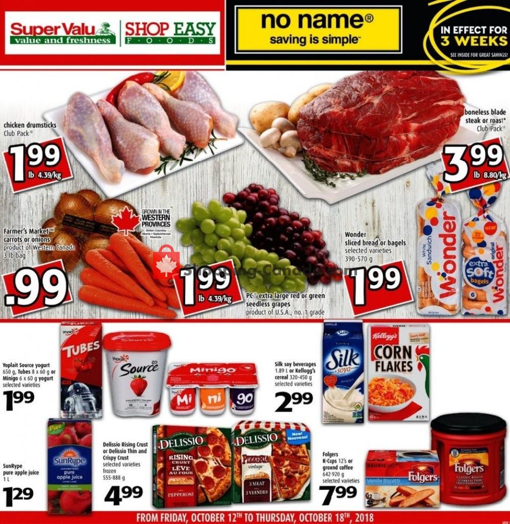 Flyer Shop Easy Foods & SuperValu Canada - from Friday October 12, 2018 to Thursday October 18, 2018