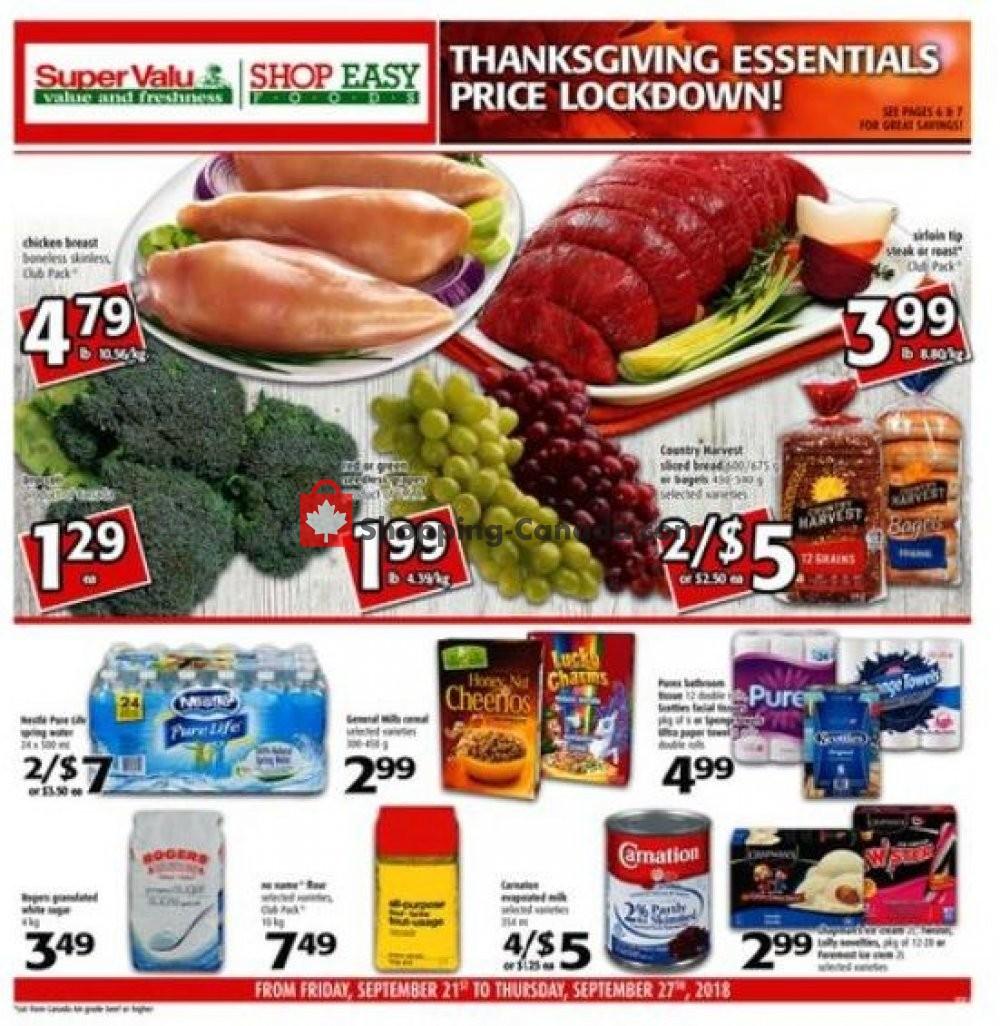 Flyer Shop Easy Foods & SuperValu Canada - from Friday September 21, 2018 to Thursday September 27, 2018