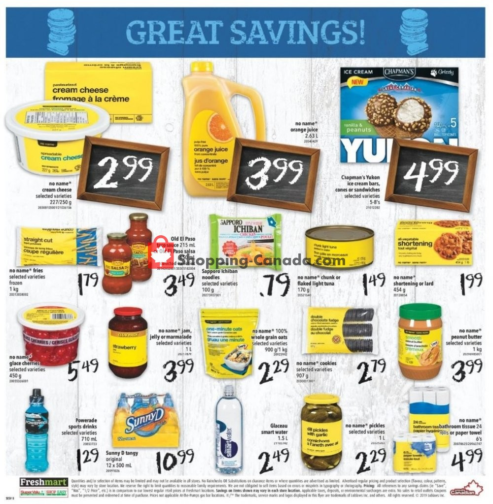 Flyer Shop Easy Foods & SuperValu Canada - from Friday August 9, 2019 to Thursday August 15, 2019