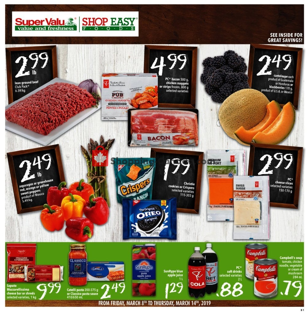 Flyer Shop Easy Foods & SuperValu Canada - from Friday March 8, 2019 to Thursday March 14, 2019