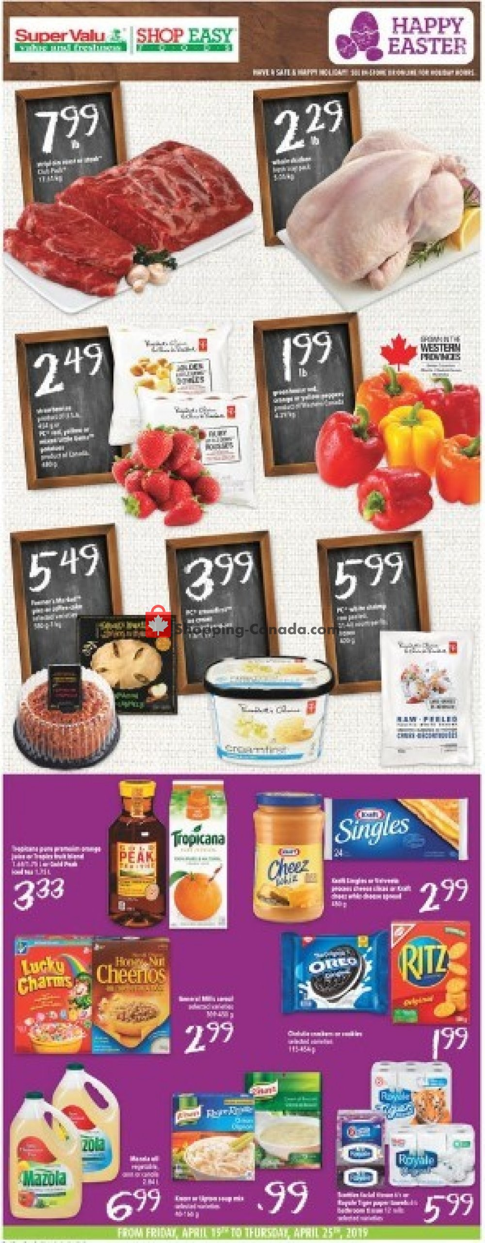 Flyer Shop Easy Foods & SuperValu Canada - from Friday April 19, 2019 to Thursday April 25, 2019