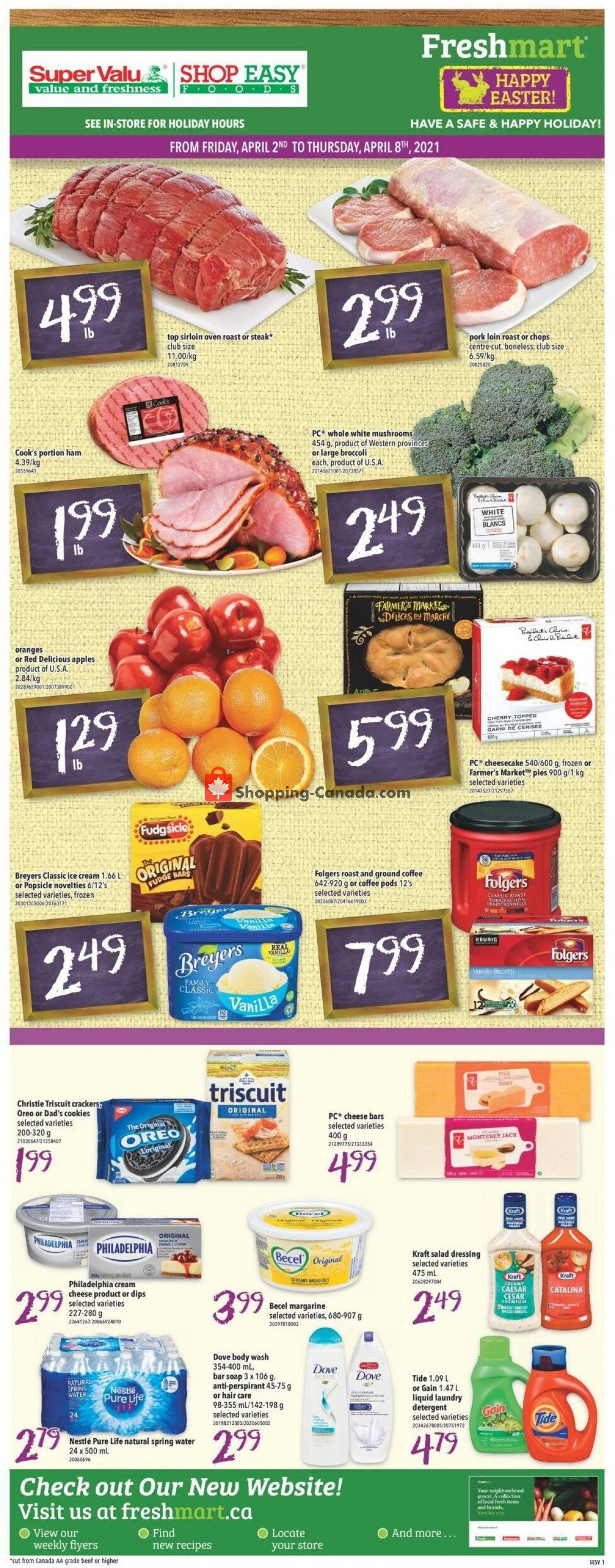 Flyer Shop Easy Foods & SuperValu Canada - from Friday April 2, 2021 to Thursday April 8, 2021