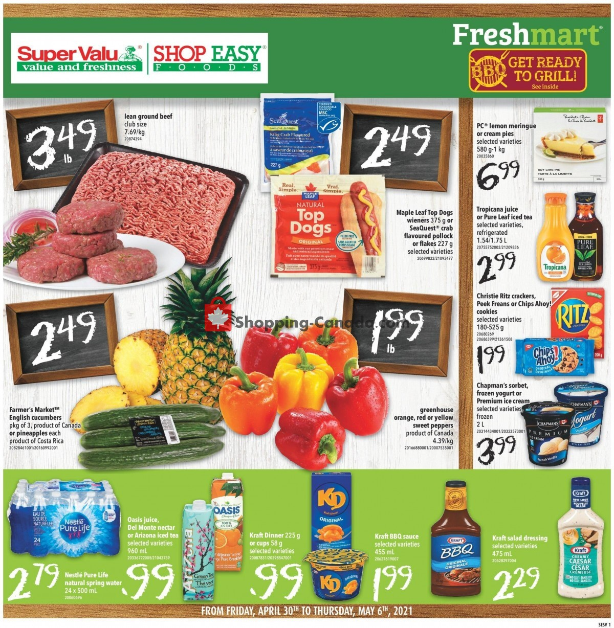 Flyer Shop Easy Foods & SuperValu Canada - from Friday April 30, 2021 to Thursday May 6, 2021