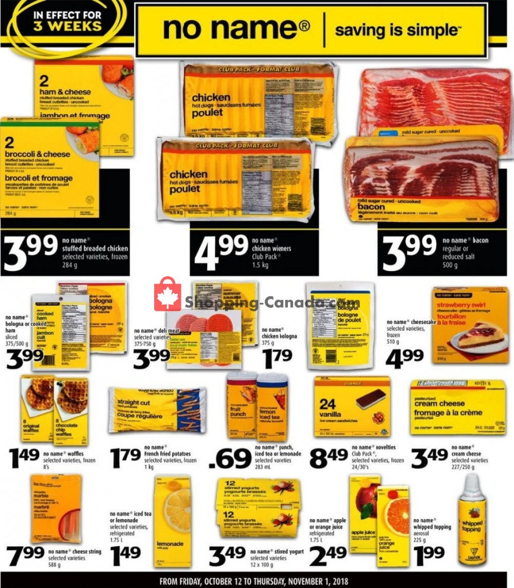 Flyer Shop Easy Foods & SuperValu Canada - from Friday October 12, 2018 to Thursday November 1, 2018