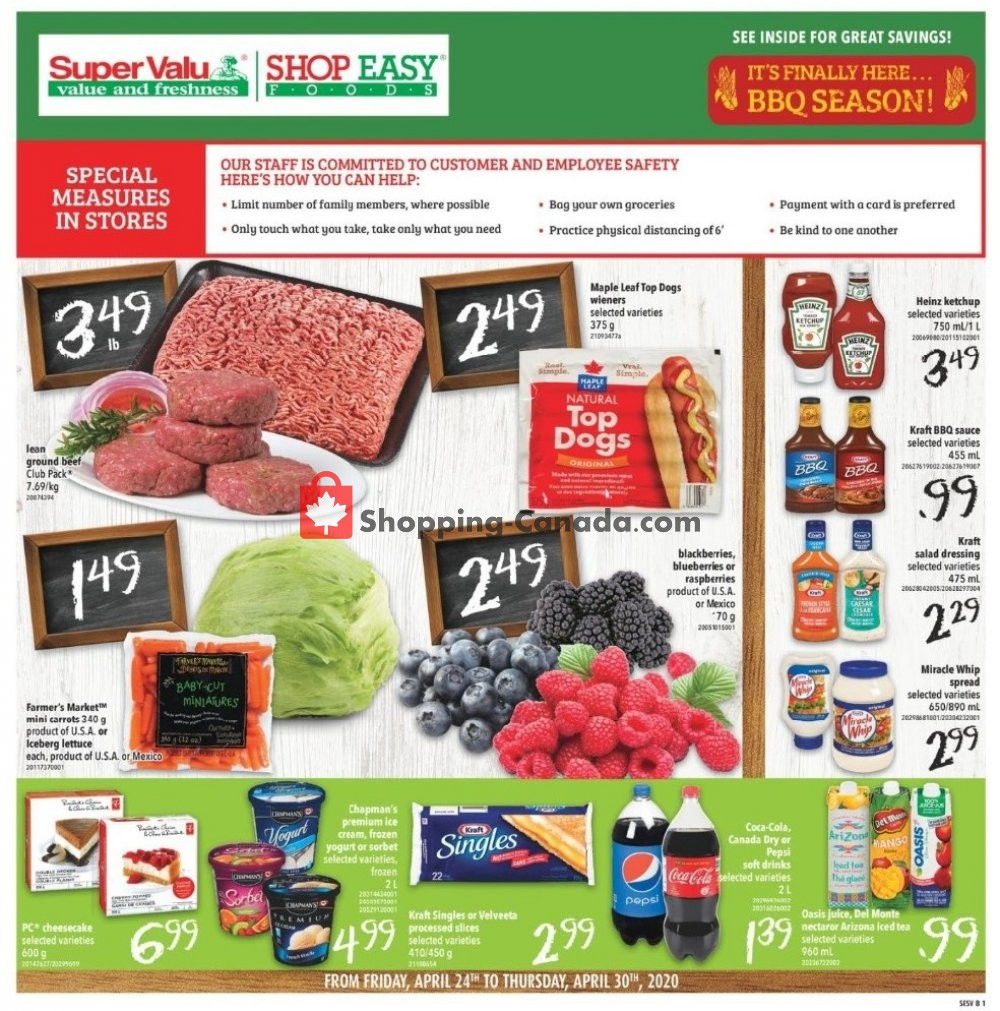 Flyer Shop Easy Foods & SuperValu Canada - from Friday April 24, 2020 to Thursday April 30, 2020