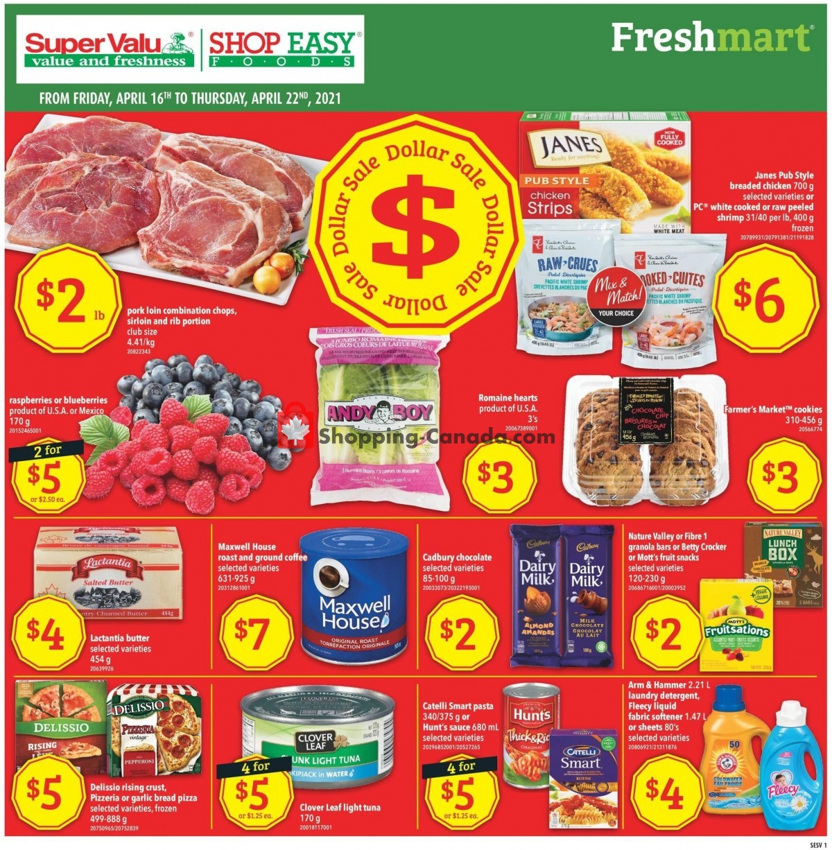 Flyer Shop Easy Foods & SuperValu Canada - from Friday April 16, 2021 to Thursday April 22, 2021