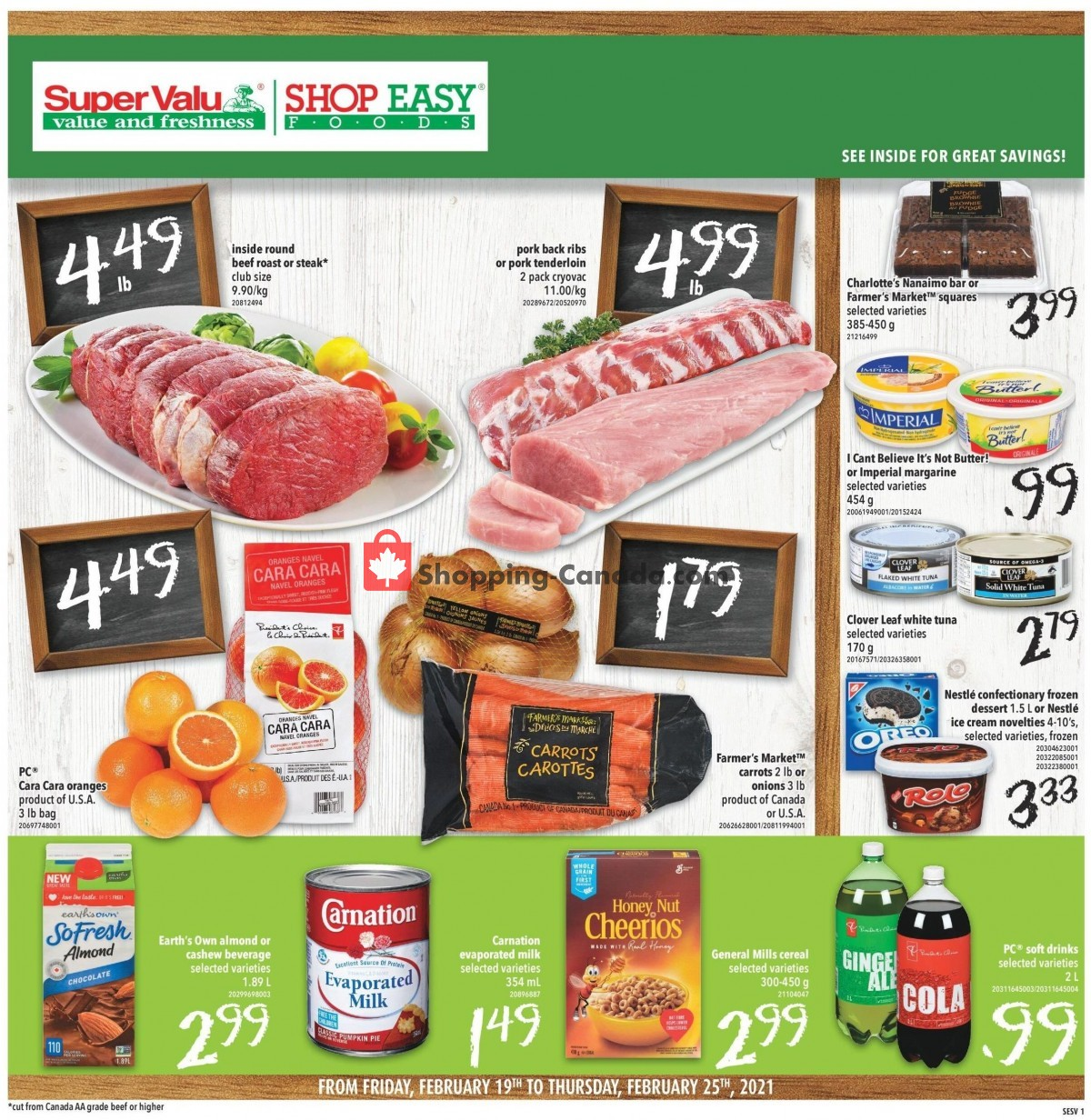 Flyer Shop Easy Foods & SuperValu Canada - from Friday February 19, 2021 to Thursday February 25, 2021